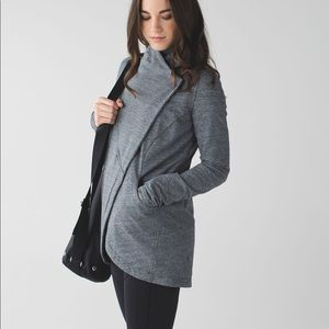 Lululemon That's A Wrap Heathered Gray Coat Jacket
